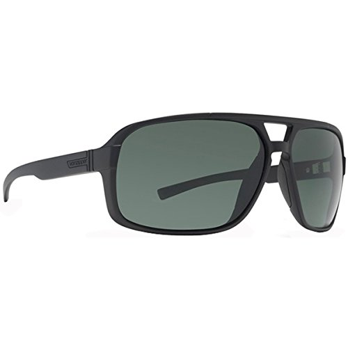 VonZipper Decco Shift Into Neutral Men's Lifestyle Sunglasses - Black Satin/Grey / One Size Fits All