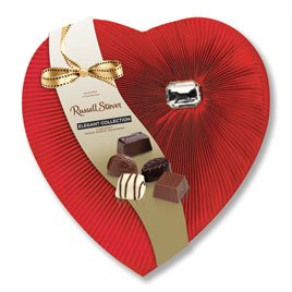 (Russell Stover Private Reserve Assorted Chocolates Diamond Brooch Heart, 8 oz.)