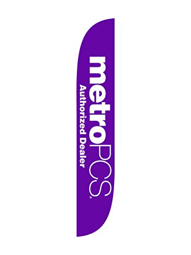 Lookourway Metropcs Purple Feather Flag  12 Feet