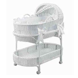 Babydoll Fairyland Bassinet Bedding Set, White ()
