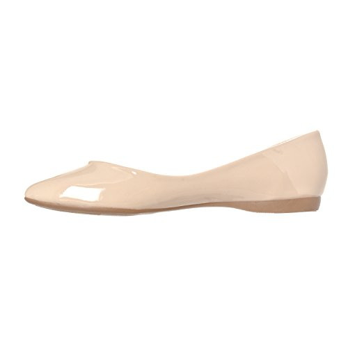 Riverberry Toe Nude Women's Pointed Ballet Closed Slip Basic On Flat Shoe Patent Ella rp4Xn6WPZr