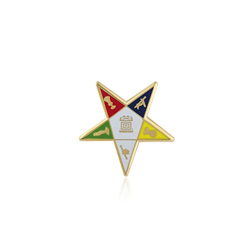 Order of the Eastern Star (OES) Gold Toned Lapel Pin (3/4 inch)