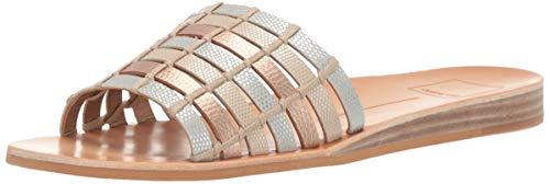 Dolce Vita Women's COLSEN Slide Sandal Metallic/Multi Lizard Embossed Stella 7 M US