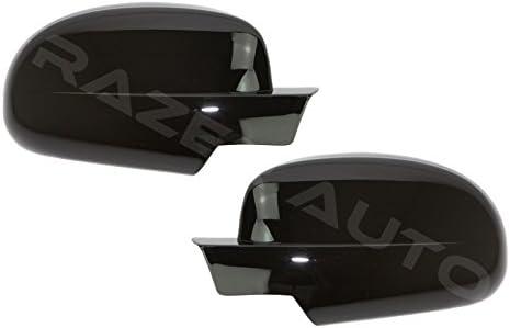 07-13 Chevy Silverado+Avalanche Gloss Shiny Black Mirror Cover Half Top Trim