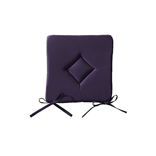 4 x Cojines acolchados para silla con lazos 40x40x3.5 cm morado The Today Range