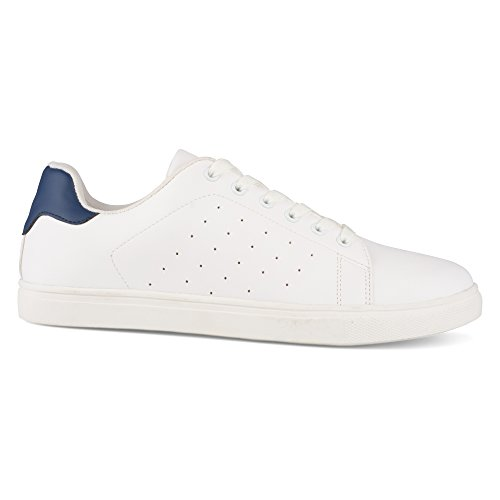 Influence Mens Steve Casual Lace Up Tennis Formateur Sneaker Marine / Blanc