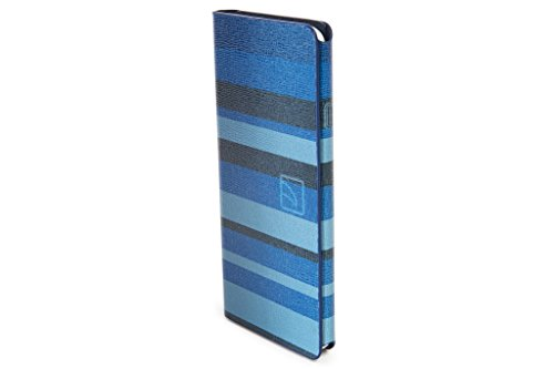 Tucano Leggero Stripes Booklet Case blau für iPhone 6 / 6S