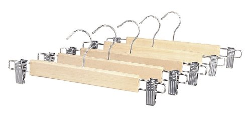 Wood Skirt Hangers (Whitmor GRADE A Natural Wood Skirt Hangers (Set of 5))