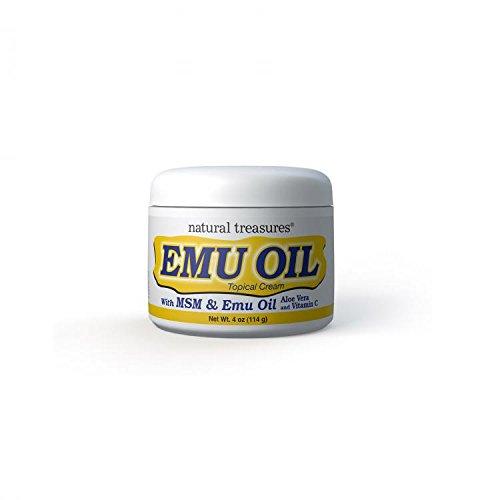 B.N.G. Natural Treasures Emu Oil Topical Cream, 4 Ounce by B.N.G.