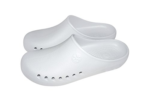 Natural Comfort White Uniforms US Resistant M 7B Slip Non Sole Marking Nursing 35598 Clog qrq1x5Hw