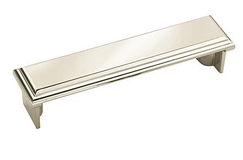 Amerock Manor Cup Pull - Amerock BP26137PN Manor 3-3/4 in (96 mm) Center-to-Center Polished Nickel Cabinet Cup Pull
