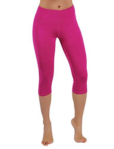 - ODODOS Power Flex Yoga Capris Tummy Control Workout Non See-Through Pants with Pocket,Fuchsia,XX-Large