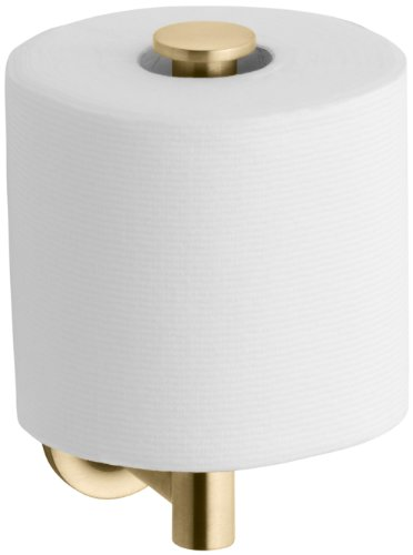 KOHLER K-14444-BGD Purist Vertical Toilet Tissue Holder, Vibrant Modern Brushed (Kohler Brass Toilet Paper Holder)