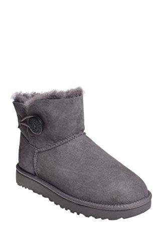 (UGG Women's Mini Bailey Button II Winter Boot, Grey, 6 B US)