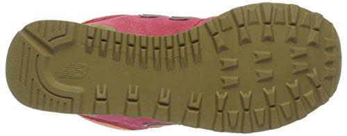 New Balance 574 Mid, Zapatillas Altas para Mujer Rosa (Pink)