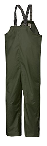 (Helly Hansen Workwear Men's Mandal Fishing and Rain Bib Pant, Army Green, Small )