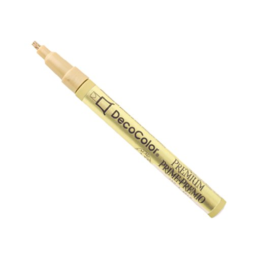 Uchida of America 250-CGLD DecoColor Premium 2mm Calligraphy Pen, Gold by Uchida Of America (Image #1)