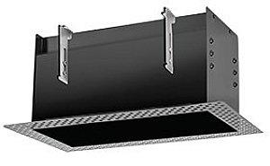 RAB Lighting Black 2 Fixture Head Trimless Recessed Remodeler Housing