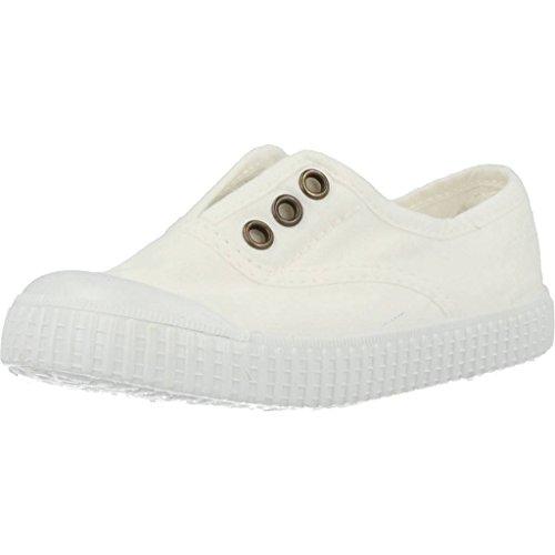 Victoria - Zapatillas de casa de tela para niños Blanco