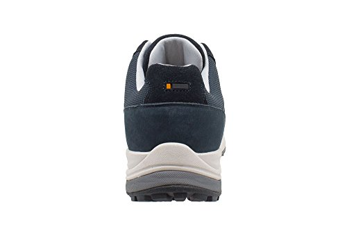 T-Shoes Sport Strolling, Baskets mode, Sweden and nubuck mesh Blu