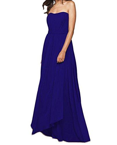 Gowns Dress Long Prom Blue Royal Blevla Bridemaid Sweetheart Chiffon qpxPfw