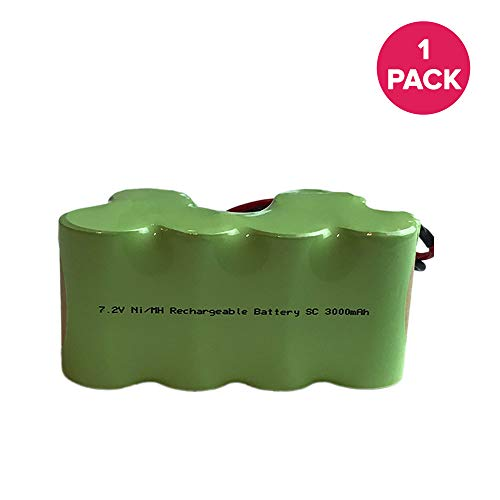 Think Crucial Replacement for Shark 7.2V 3000mAh Battery Fits EuroPro Cordless, Compatible With Part # XB1918, Long Lasting & Rechargeable