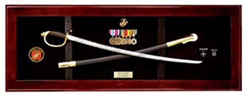 flag connections USMC NCO Sword Display Case, Sword Cases, Marine Sword Frame