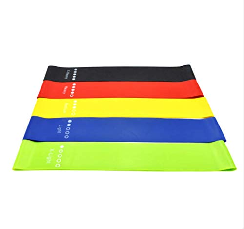tydv 5pcs Yoga Resistance with Five Color Resistance Ring Elastic Pilates Fitness Equipment Gym Home Exercise