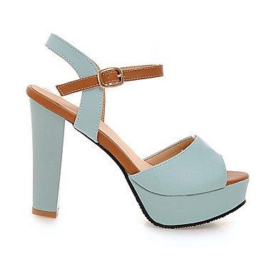 LvYuan Mujer Sandalias Zapatos formales Semicuero Primavera Verano Casual Vestido Fiesta y Noche Zapatos formales Tacón Robusto Blanco Azul Rosa Blue