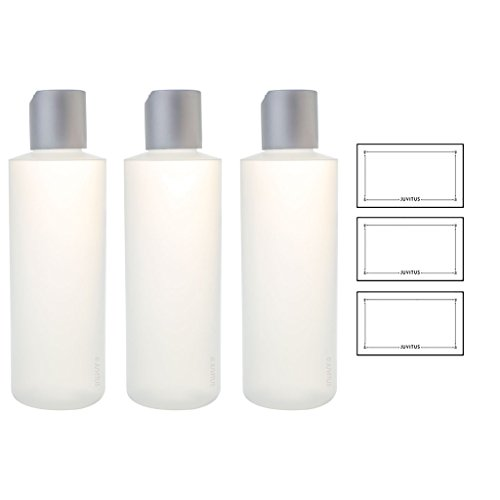 Clear Natural Refillable Plastic Squeeze Bottle with Disc Cap - 6 oz (3 Pack) + - Clear Discs Plastic