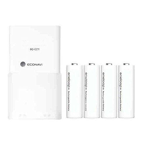 BQ-CC11 cargador rápido con 4 pilas Eneloop AA NiMH: Amazon ...