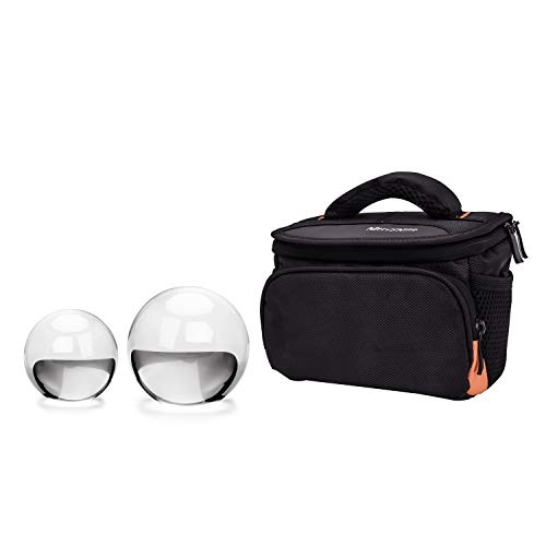 MerryNine Crystal Ball with Crystal Ball Case Bag Set, K9 Crystal Photography Ball, Including Microfiber Pouch and Crystal Ball Manual, Perfect Photography Accessories (60mm & 80mm/2.36