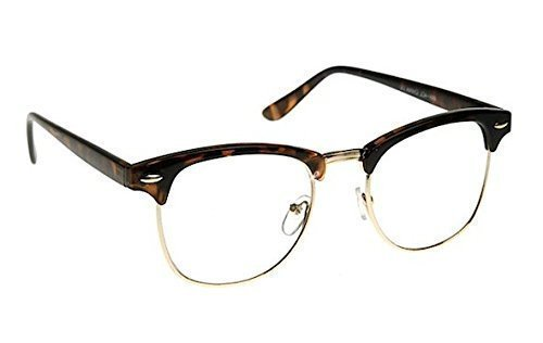 6b00b94d65 Image Unavailable. Image not available for. Colour  Sunglassesinn  Tortoiseshell Browline Wayfarer Clubmaster Men s Women s Glasses 40 s Clear  Lens