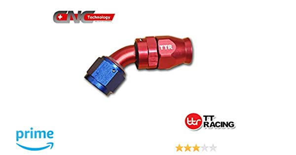 AN-10 Alloy Swivel Fitting Fuel Hose End Grade A Straight 45 90 180 Degree RED