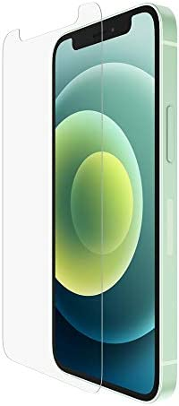 Belkin iPhone 12 Pro/iPhone 12 Screen Protector TemperedGlass Anti-Microbial (Advanced Protection + Reduces Bacteria on Screen as much as 99%), Clear (OVA021zz)