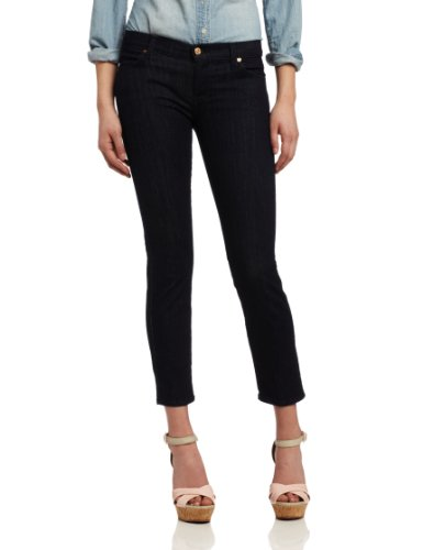 (7 For All Mankind Women's Straght Leg Jean, Slim Illusion Rinse, 28)