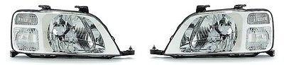 Pair Both Driver - Fits 97 98 99 00 01 Honda CR-V Headlight Headlamp Pair Set Both Driver and Passenger NEW 33151-S10-A01 33101-S10-A01 HO2502112 HO2503112