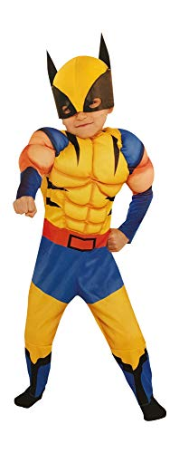 Wolverine Baby Costume (Costumes USA Marvel Wolverine Toddler Muscle Costume with Hooded Half Mask)
