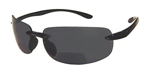 Rodeo Monacos Everyday Wrap Nearly Invisible Line Bi focal Sun reader Sunglasses (Slate, - Italy Design Sunglasses