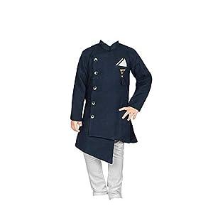 FELIZ THE DESIGNER STUDIO Baby Boy's Cotton Kurta Pyjama Set blue