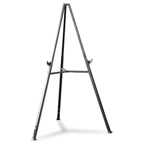 Triumph Display Easel, Adjust 36'' to 62'' High, Gray by Ghent