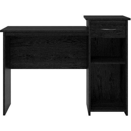 Mainstays Student Desk with Easy-Glide Drawer, Black Ebony Ash