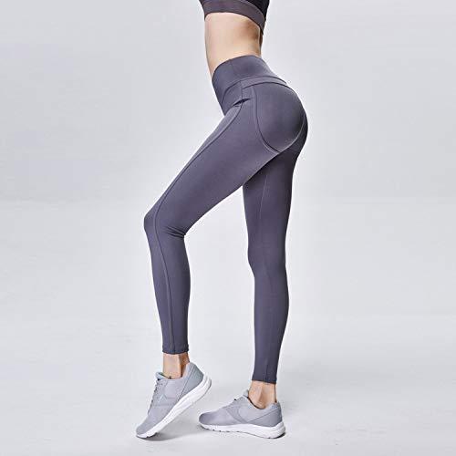 Pantaloni Yoga Alta Fitness Donna Leggings Cjjc Colore Allenamento Di Elasticizzato Gray Semplice Da Vita Sportivi Corsa Puro dqSgz6