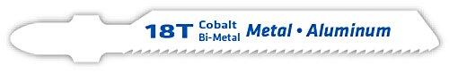 Century Drill and Tool 6236 Tang Shank Cobalt Bi-Metal Jig Saw Blade, 18T