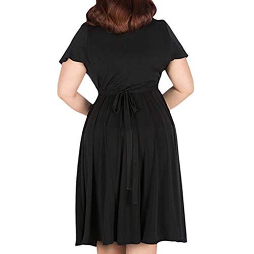 83ef8dc7bcc4 kemilove Women's V-Neckline Stretchy Casual Midi Plus Size Bridesmaid Dress  Black
