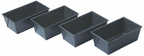 Chicago Metallic Non Stick Mini Loaf Pans, Set of 4 - Chicago Metallic Brownie Pan