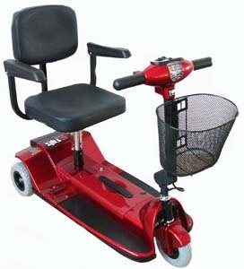 Zip r Xtra 3 Wheel Hybrid Travel Scooter (Options - Color: Red) by Zip'r Mobility