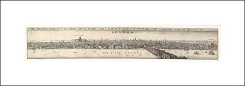 Wenceslaus Hollar - 20x6 Art Print by Museum Prints - Prospects of London Before and After The Great Fire