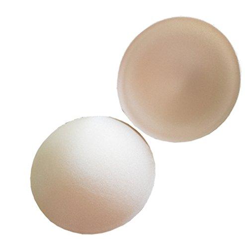 3 Pairs Round Bra Insert Breathable Sponge Bra Inserts Cup Push Up Sports Bra Pad Breast Enlargement Enhancer Shaper for Women Girls (Nude)