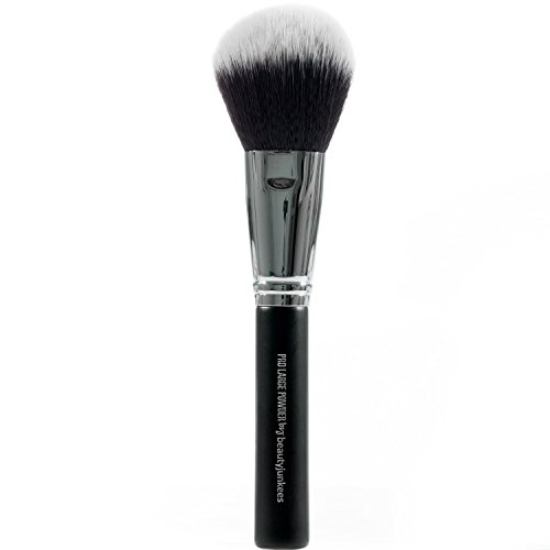 Large Finishing Powder Makeup Brush - Big Fluffy Powder Make Up Brush for Face and All Over Body Bronzer, Loose, Mineral, Compact, Translucent Powders, Soft, Synthetic, Vegan, Cruelty Free (Best Bronzer Body)